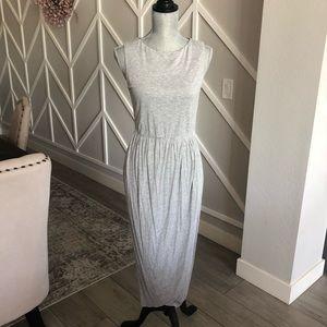 Alice + Olivia Air Gray Midi Wrap/Tulip Dress